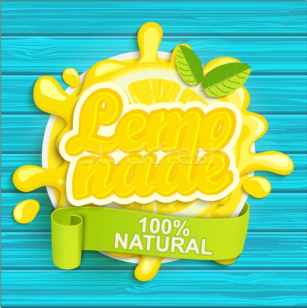 Lemonade label splash. Stock photo © tandaV