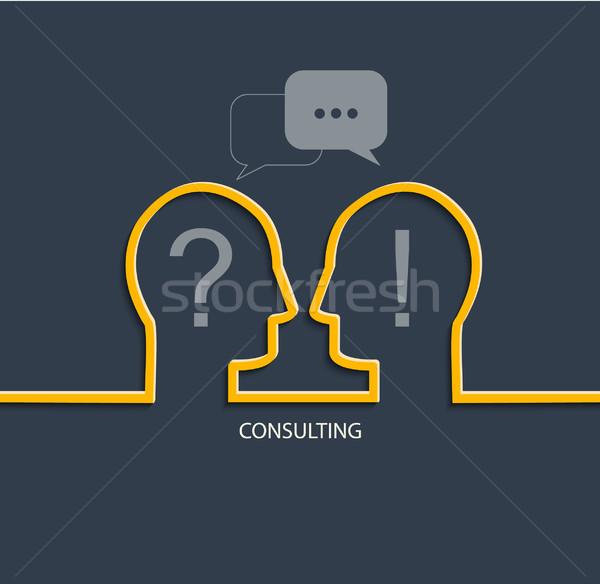 Consulting лице ключевые службе рынке успех Сток-фото © tandaV