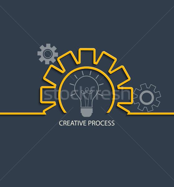 Creative процесс стиль вектора аннотация свет Сток-фото © tandaV