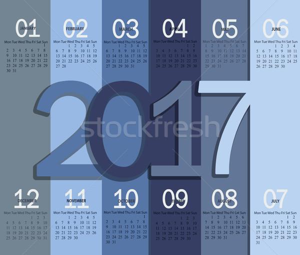 Modern calendar for 2017. Stock photo © tandaV