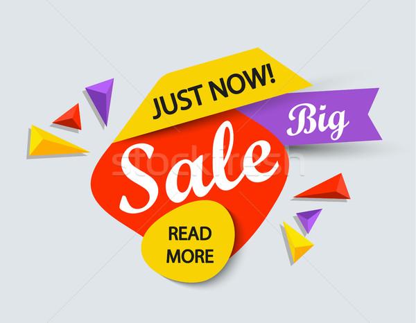 сейчас продажи баннер моде дизайна торговых Сток-фото © tandaV