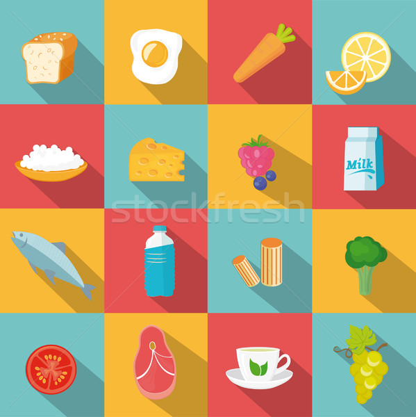 自然 食品 セット フルーツ 健康 卵 ストックフォト © tandaV