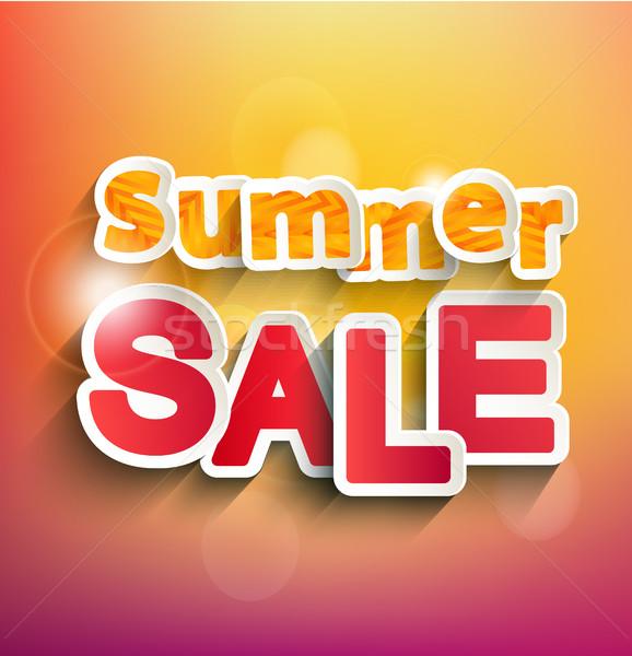 Verão venda coleção vetor bokeh texto Foto stock © tandaV