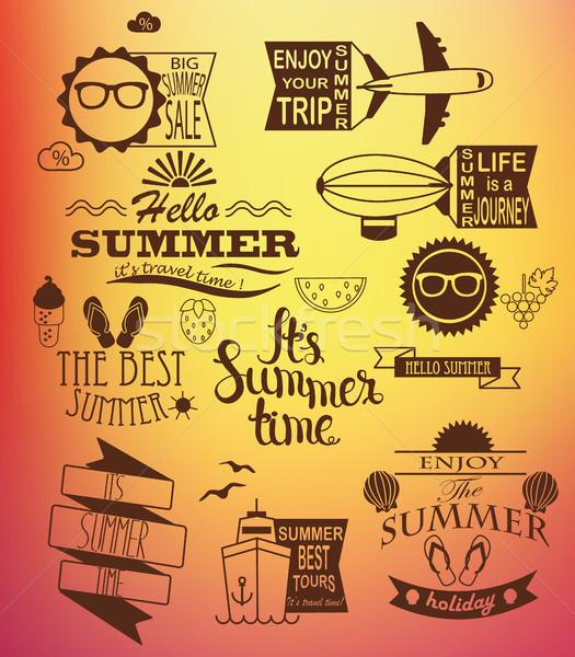 Summer holidays design elements. Stock photo © tandaV