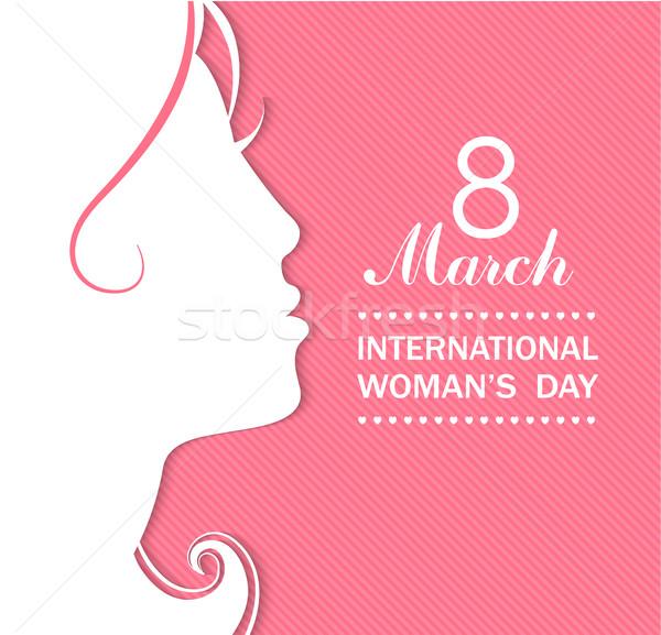 Happy Women's Day celebrations concept. Stock photo © tandaV