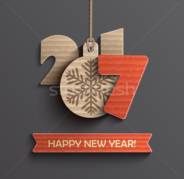 Creative New Year 2017 design. Stock photo © tandaV