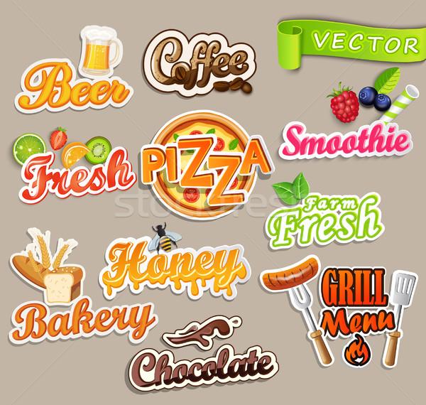 Set alimentare farm fresche pizza Foto d'archivio © tandaV