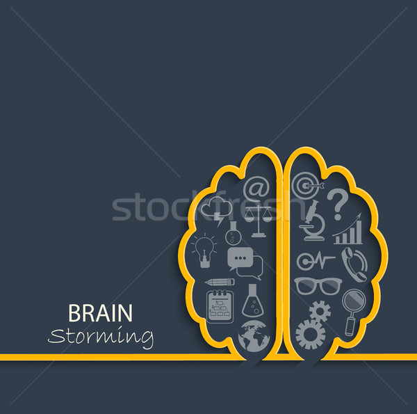 Brainstorming concept, vector. Stock photo © tandaV