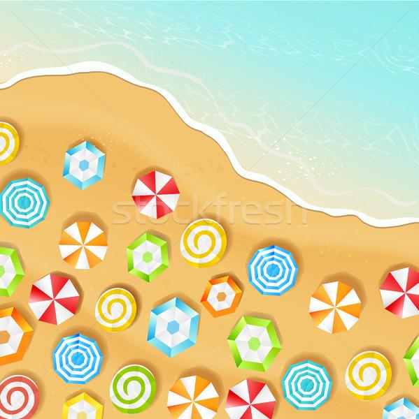 Verão praia vetor ver feliz natureza Foto stock © tandaV