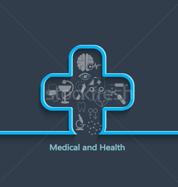 медицинской здоровья здравоохранения медсестры зубов термометра Сток-фото © tandaV