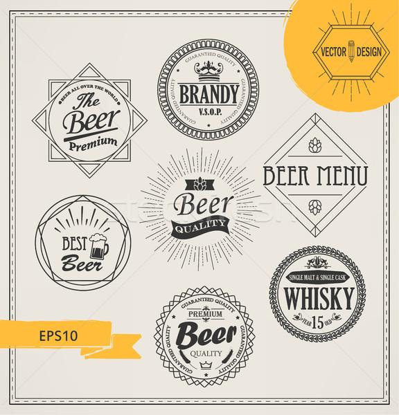 Vector alcohol logos and emblems Stock photo © tandaV