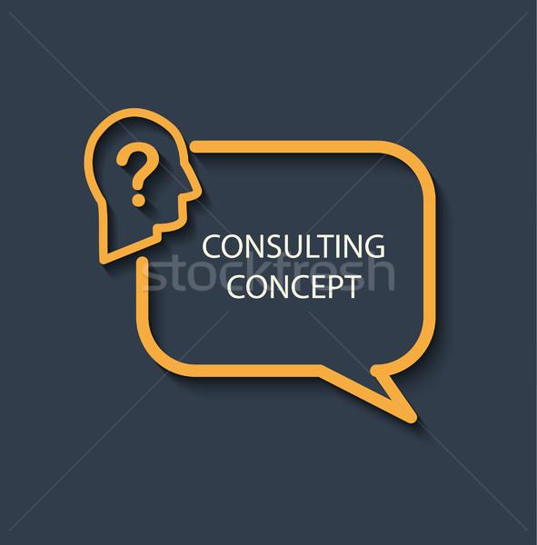 Icon for a consulting concept. Stock photo © tandaV