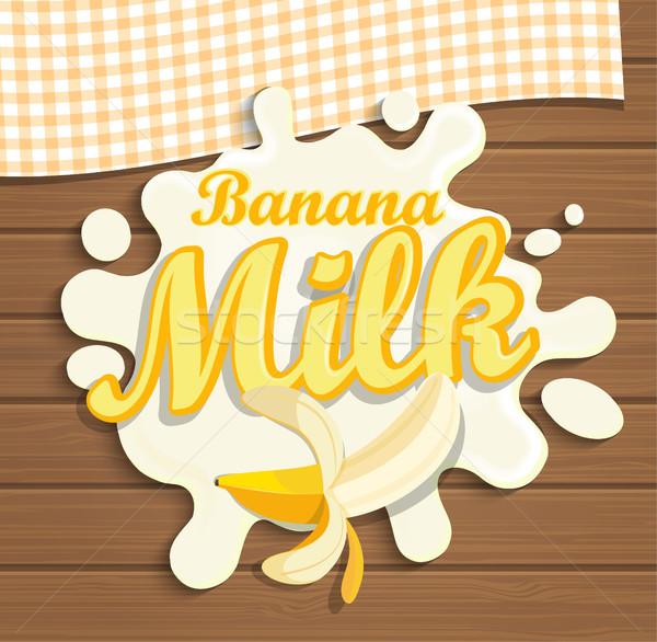 Latte banana splash natura salute colazione Foto d'archivio © tandaV