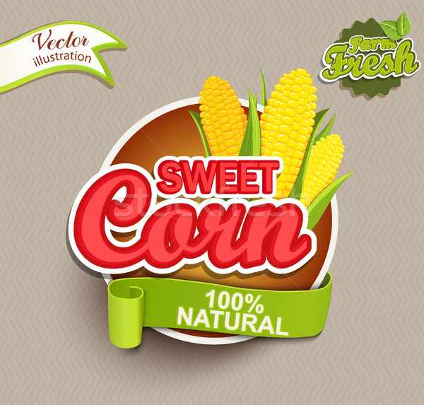Sweet corn logo. Stock photo © tandaV