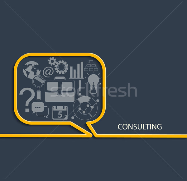 набор Consulting стиль бизнеса Сток-фото © tandaV
