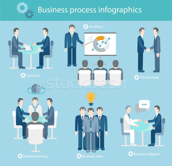 Negocios proceso infografía grande idea Foto stock © tandaV