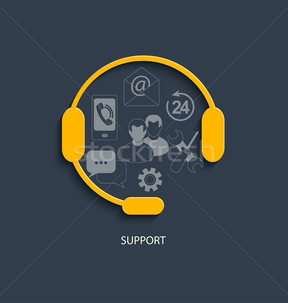 Concept for customer support service. Stock photo © tandaV