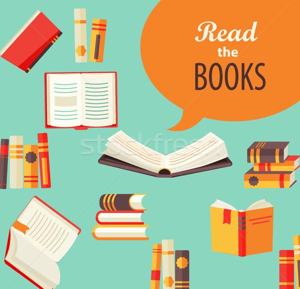 Set of books. Stock photo © tandaV