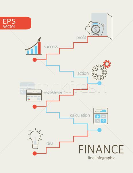 インフォグラフィック 金融 デザイン 現代 コンピュータ ストックフォト © tandaV