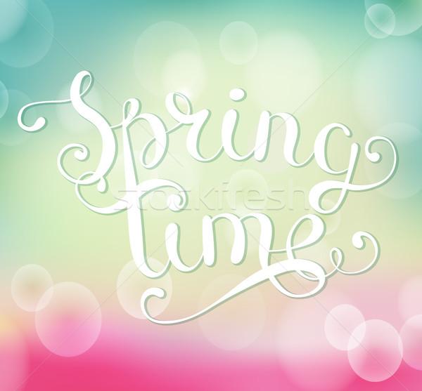 весны время bokeh стороны счастливым Сток-фото © tandaV