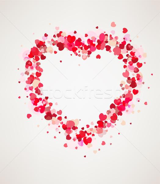 幸せ バレンタインデー カード フレーム 心 光 ストックフォト © tandaV