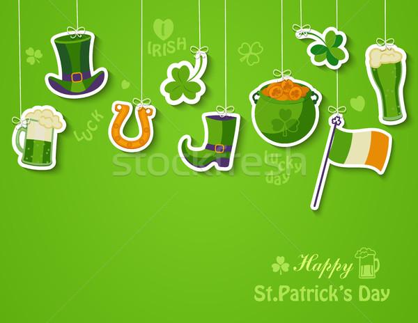 Happy St Patricks day greeting card. Stock photo © tandaV
