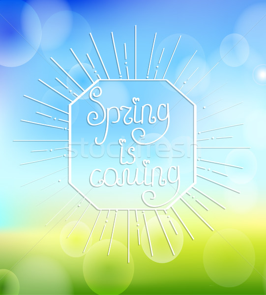 Spring is coming with sunbrust. Stock photo © tandaV
