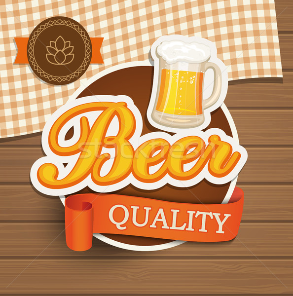Beer quality emblem. Stock photo © tandaV