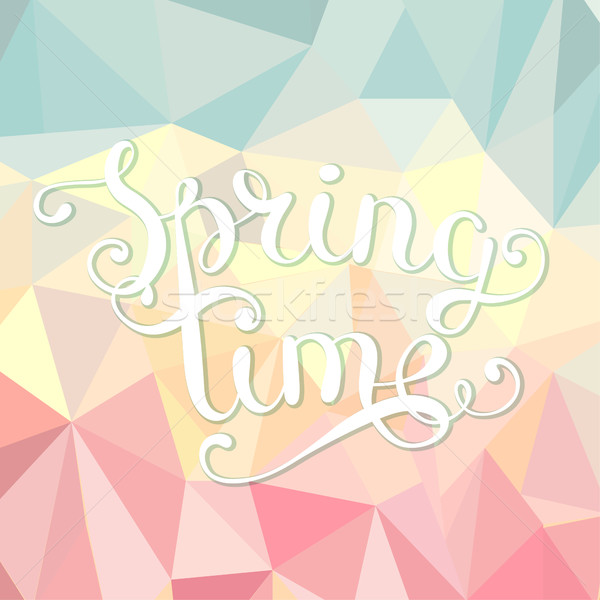 Spring time polygonal background. Stock photo © tandaV