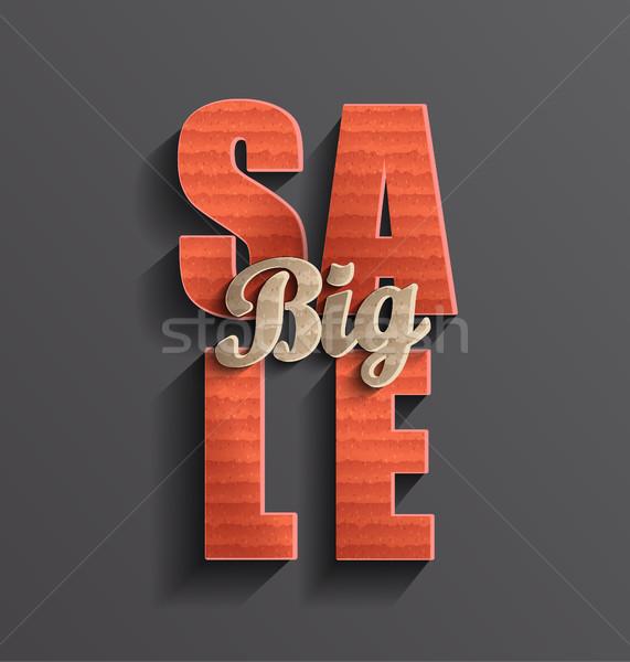 Grande vendita banner poster business carta Foto d'archivio © tandaV
