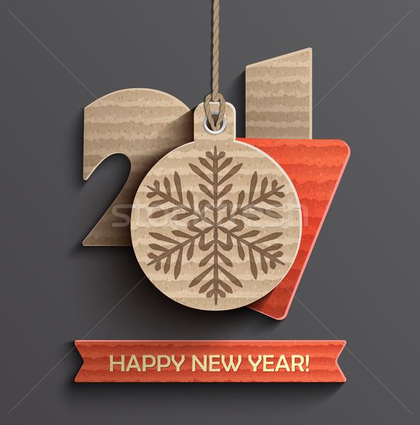 Creative happy new year 2017 design. Stock photo © tandaV