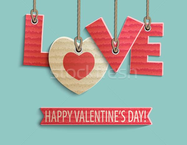 Feliz dia dos namorados projeto criador papel festa Foto stock © tandaV