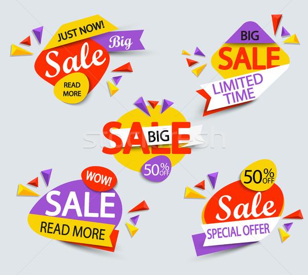 Grande vendita banner moda design shopping Foto d'archivio © tandaV