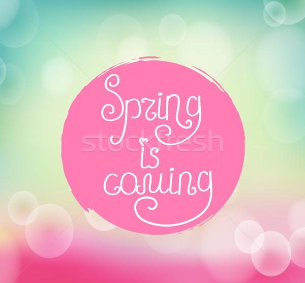écriture printemps couleur pour aquarelle place lumière Photo stock © tandaV