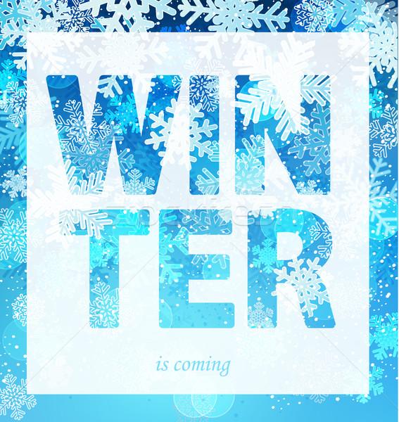 冬 印刷 スローガン パンフレット バナー 服 ストックフォト © tandaV