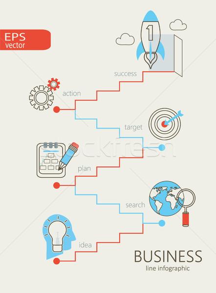 Affaires design modernes résumé Photo stock © tandaV