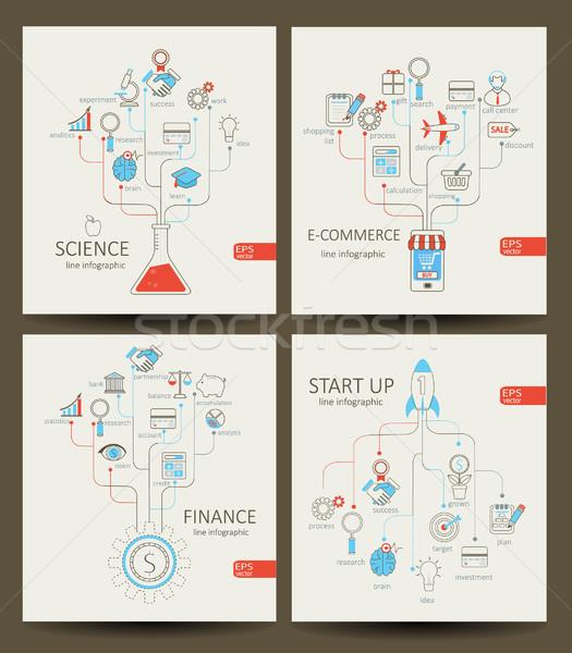Infográficos startup financiar ecommerce ciência vetor Foto stock © tandaV