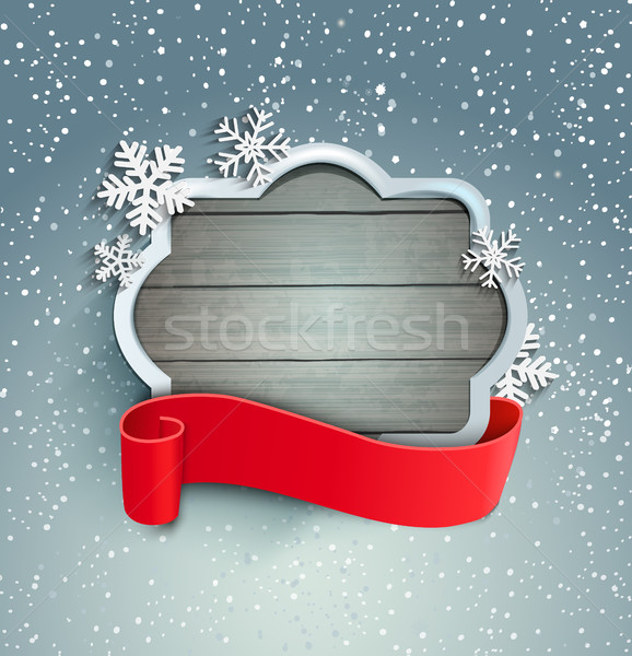 Inverno vintage quadro fita vetor papel Foto stock © tandaV