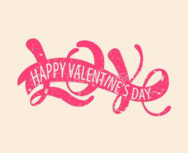 Amor feliz dia dos namorados romântico Foto stock © tandaV