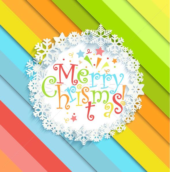 веселый Рождества сообщение кадр ярко Сток-фото © tandaV