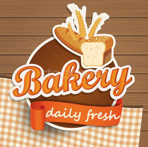 Bakery bread sticer. Stock photo © tandaV