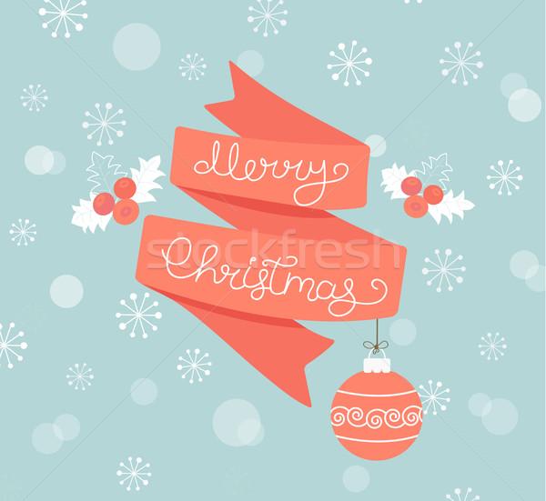 Рождества мяча веселый аннотация дизайна Сток-фото © tandaV