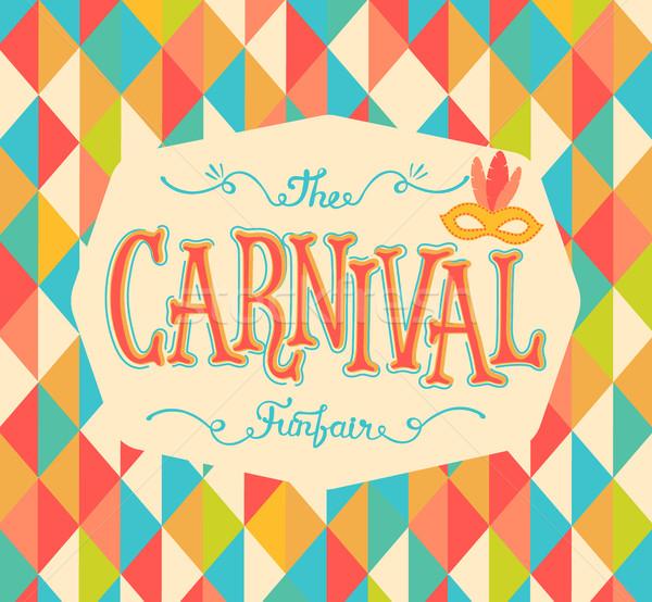 Carnival funfair background. Stock photo © tandaV