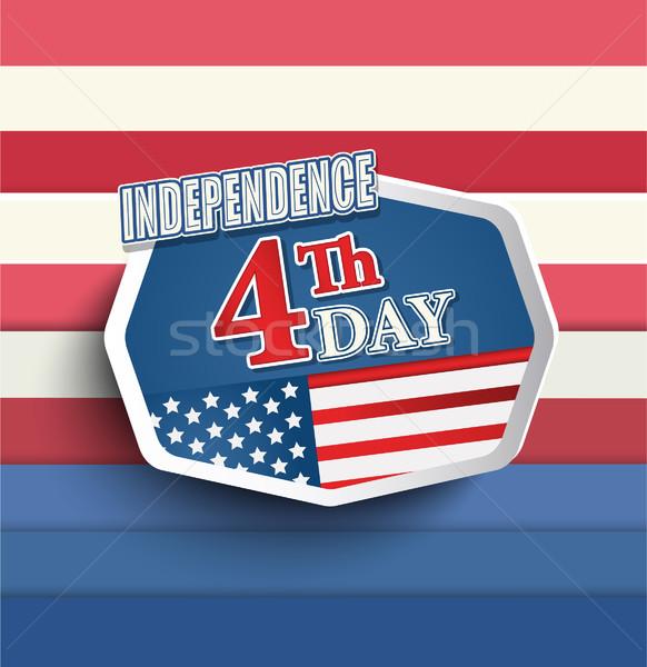 Negyedik negyedike amerikai nap jelvények háttér Stock fotó © tandaV