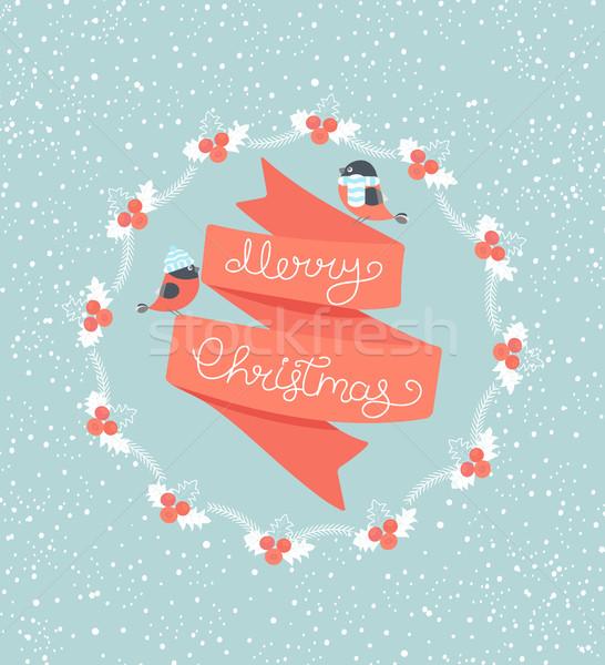 ストックフォト: クリスマス · グリーティングカード · 陽気な · テクスチャ · 抽象的な · デザイン
