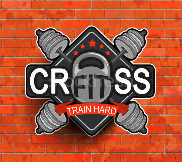 Crossfit emblem, symbol. Stock photo © tandaV