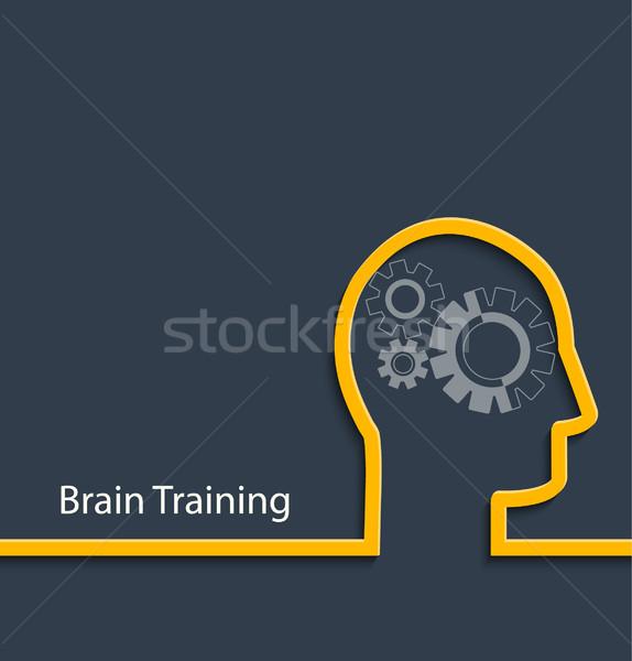 Brain training, vector. Stock photo © tandaV