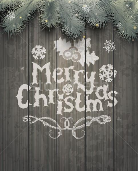 Stock photo: Vector Christmas greeting card.