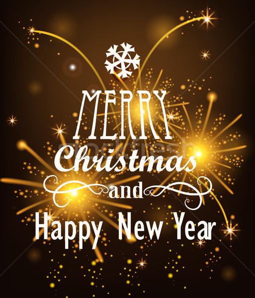 Vector Christmas Messages. Stock photo © tandaV