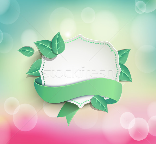 Frame for text with ribbon Stock photo © tandaV